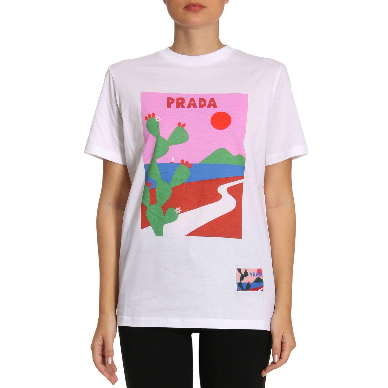 T-shirt Damen Prada